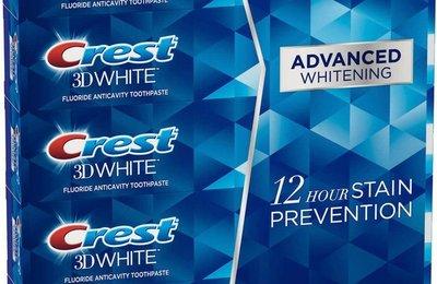 80%三天內去除齒垢Crest 3D White牙膏薄荷2倍長效專業進階美白牙膏 另有95%