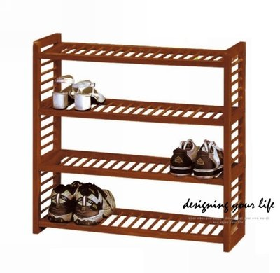 【設計私生活】原木四層鞋架、拖鞋架(自取價)120 P