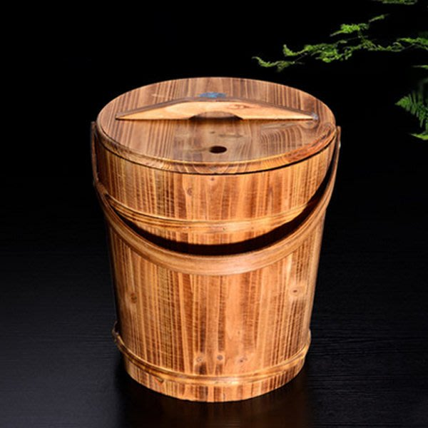 5Cgo【茗道】含稅會員有優惠   20045256712 功夫茶具木制茶桶木廢水桶茶道配件倒茶葉桶排水桶茶渣桶