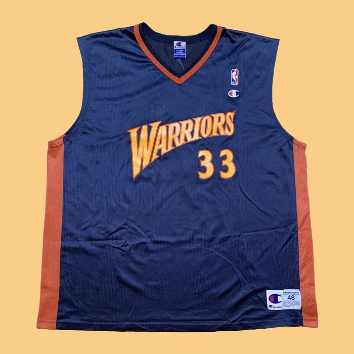 JCI:Vintage Champion NBA 金州 勇士隊 客場球衣 古著 / 西岸 / 冠軍牌