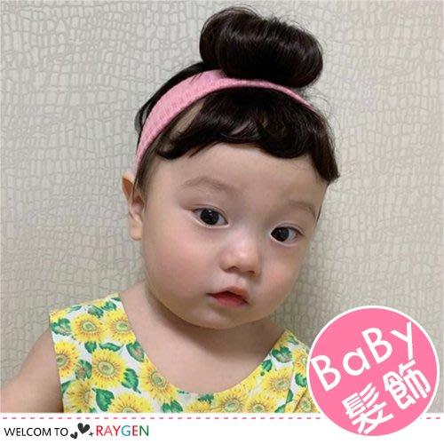 HH婦幼館 超Q寶寶單包丸子頭假髮髮帶 髮飾 假髮帽【2F205M781】