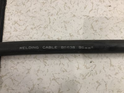 Welding Cable BS638 95mm 電線 三相電 40米 x 4條