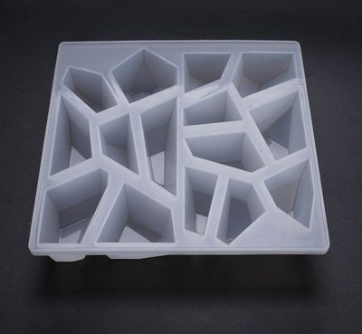 【光圈飾物所】切割面 多邊形 矽膠模具組(水晶膠 UV膠 Epoxy 環氧樹脂)