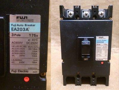 (富士fuji 3P 175A)  X1 (台安 3P 75A) X2 (國際 3P 50A) X 1無熔絲開關四個一拍