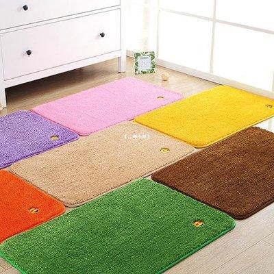 【吉娜小鎮】 定做純色金黃色風水地墊 橙色 綠色 防滑吸水門墊定制客廳大地毯