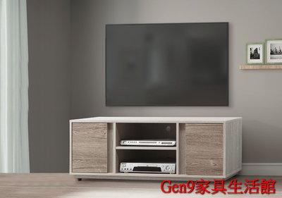 Gen9 家具生活館..莫德納4尺電視櫃(木心板)-EH:927-40..台北地區免運費!!