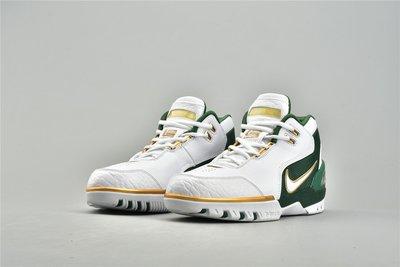 Nike LeBron 1 Air Zoom Generation SVSM 白綠金 籃球鞋 AO2367-100