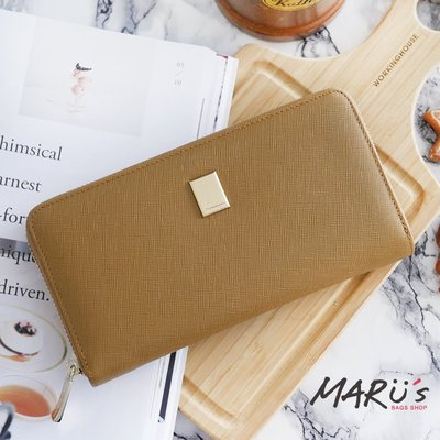 MARU`S BAGS SHOP [LN-659-crl]Cross Lady 十字紋真皮經典長夾現貨免運費