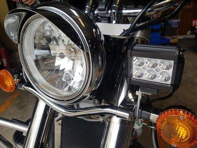 KAWASAKI 火神 VN650 VN900 經典版 方形6LED 哈雷款超亮 霧燈 含專用支架  1組2