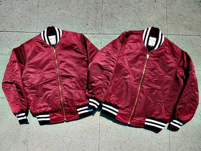 美國製Left Field Satin Nylon Car Club Jacket 復刻MA-1飛行外套 飛行夾克MA1
