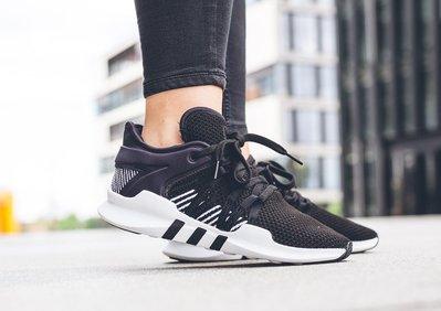 ISNEAKERS ADIDAS EQT Support ADV W 黑白 線條 網布 襪套 慢跑 女鞋 BY9795