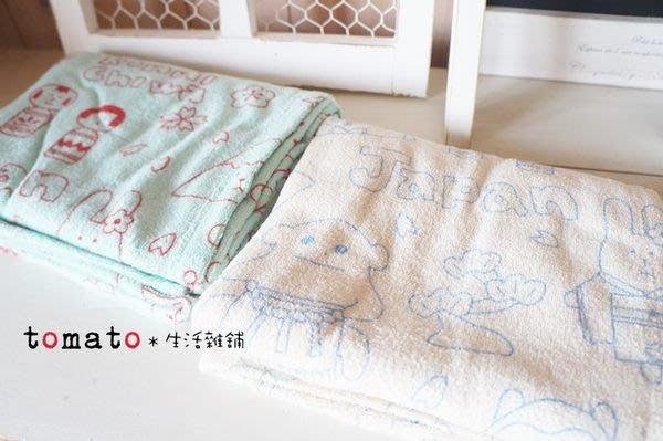 ˙TOMATO生活雜鋪˙日本進口雜貨JAPAN CRAFT 圖樣柔軟薄毯非珊瑚絨