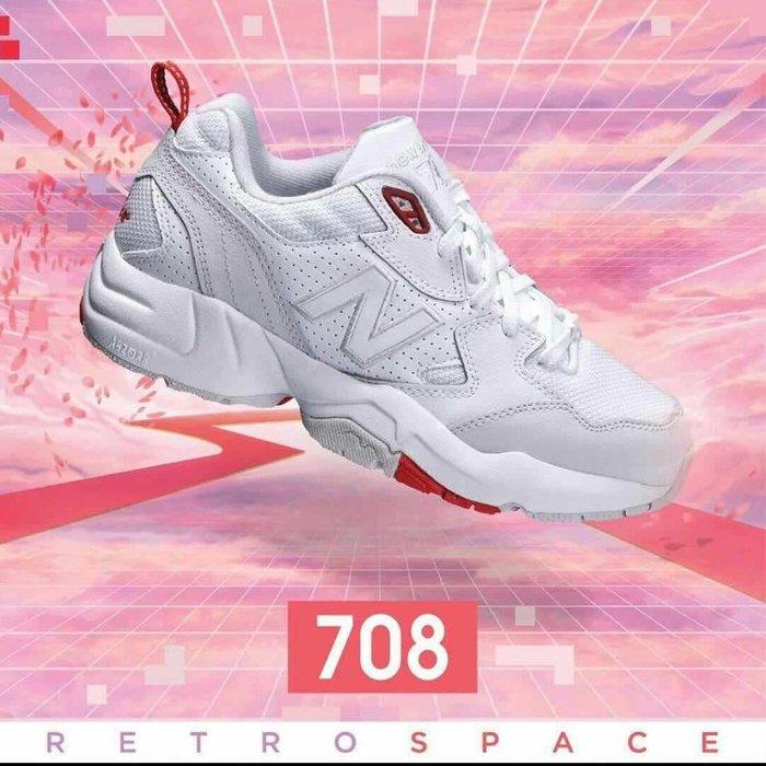 【iSport代購】正韓 New Balance 休閒鞋 老爹鞋 WX708EC 寬楦 男女款 白紅