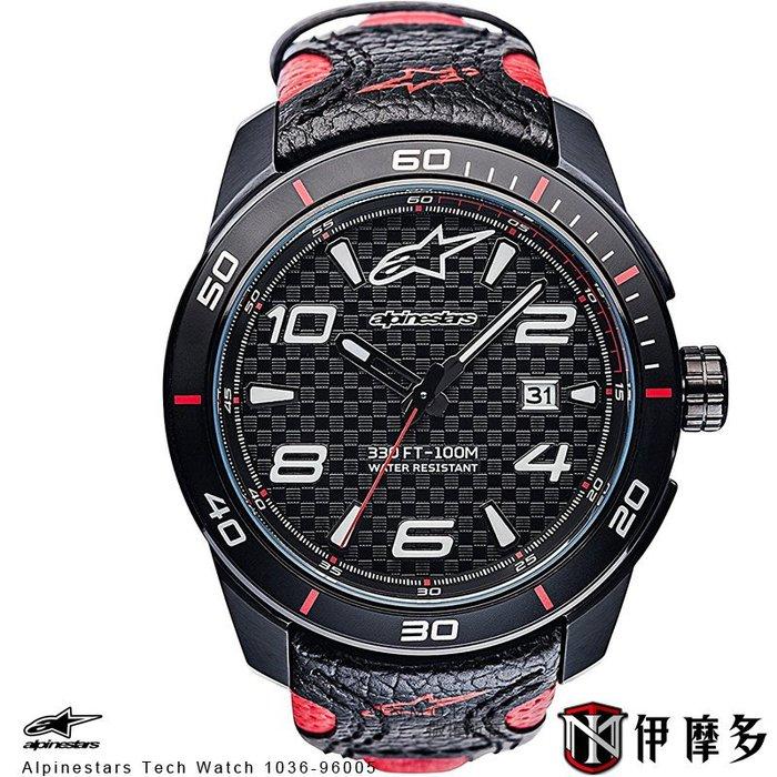 伊摩多※義大利 Alpinestars Tech Watch 手錶 真皮腕錶 運動 奢華時尚 A星 1036-96005