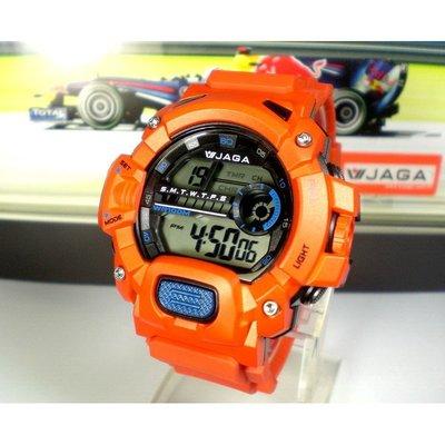 JAGA捷卡冷光電子錶 酷炫版 ZM1132 上班族 學生兒童錶 運動錶 生日禮物 當兵按鍵音可關 附保卡【↘390】