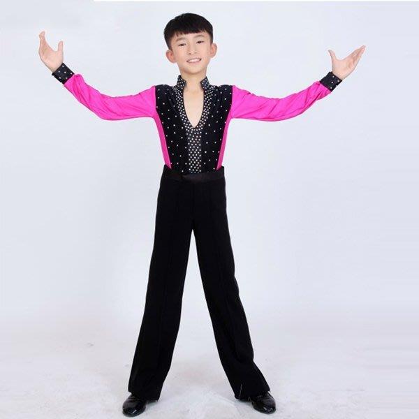 5Cgo【鴿樓】會員有優惠 41066695183 拉丁舞服裝表演服少兒拉丁舞比賽服裝男童拉丁舞演出服 兒童舞衣