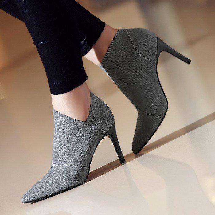【華麗登場】馬丁靴靴子女2018歐美爆款新款女靴秋冬高跟大碼短靴短筒馬丁靴套腳單靴歐美