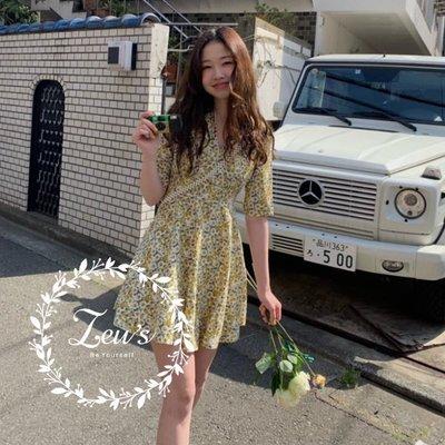 【ZEU'S】浪漫清新V領碎花洋裝『 05119609 』【現+預】E