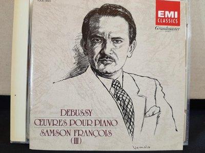 Francois,Debussy-Works For Piano Solo Vol.3,富蘭梭瓦,德布西-鋼琴獨奏曲集第三集,早期日本版,如新。