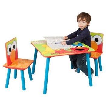 Bidbuy4u Delta Enterprise Sesame Street Table & Chairs 芝麻街桌椅 080213020163