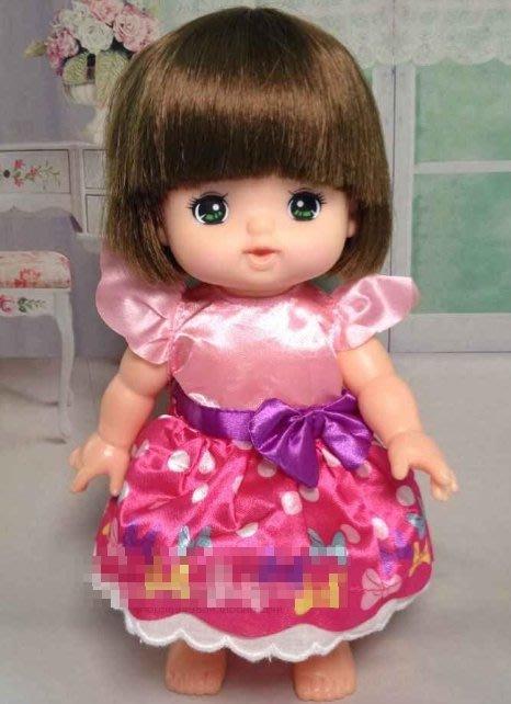 【小黑妞】小美樂可穿衣服 -彩色小飛袖蝴蝶洋裝【現貨-】