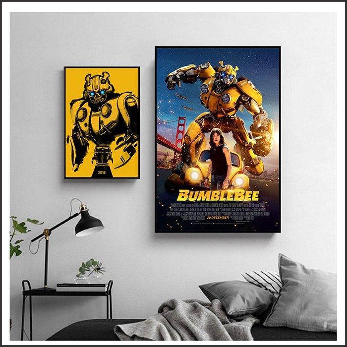 日本製畫布 電影海報 大黃蜂 Bumblebee 掛畫 嵌框畫 @Movie PoP 賣場多款海報~