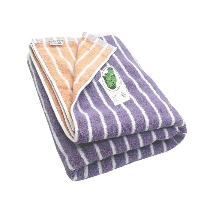 【MORINO摩力諾】美國棉雙面條紋浴巾/海灘巾-免運