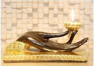 INPHIC-東南亞風格工藝品擺設泰國家居飾品擺飾玄關鎮宅宗教用品佛手燭臺
