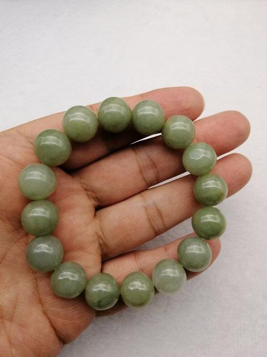 《D.N.醉愛翡翠》天然緬甸玉A貨翡翠 糯種,16顆大珠子手串