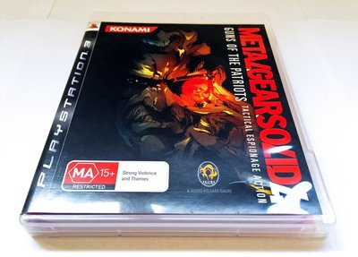 PS3 Playstation 歐版 Metal Gear Solid 潛龍諜影 4 MGS MGS4 愛國者之槍