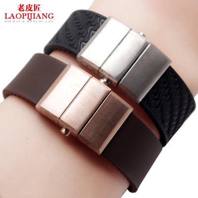 錶帶 手錶配件老皮匠防水橡膠手表帶 適配雅典Ulysse Nardin潛水弧口表帶 22mm