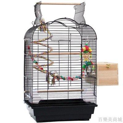 百樂美商城 鳥籠鸚鵡籠 玄鳳小/金太陽不銹鋼鐵藝大號鳥籠子繁殖籠