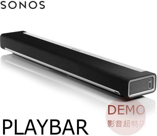 ㊑DEMO影音超特店㍿ SONOS Playbar WiFi 無線智慧 3.1 聲道單件式環繞音響 喇叭 (1支)
