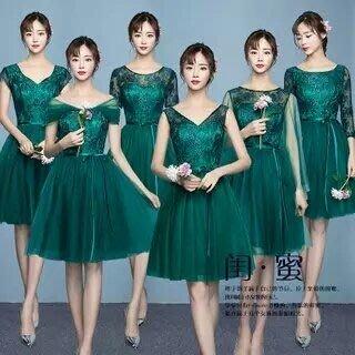 天使佳人婚紗禮服~~~~~~~ 蕾絲伴娘小禮服