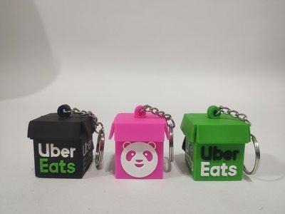 台灣現貨 熊貓 鑰匙圈 吊飾 Foodpanda Uber Eats 外送箱 保溫箱 大箱 小箱 可愛 鑰匙