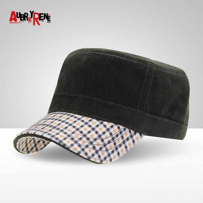 秋冬季男士帽子絲絨保暖平頂帽歐美戶外運動休閑軍帽(優品小舖)