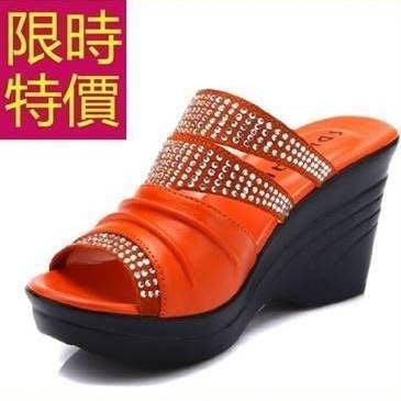 女低跟涼鞋個性-休閒透氣夏季休閒女拖鞋子3色54l80[獨家進口][巴黎精品]