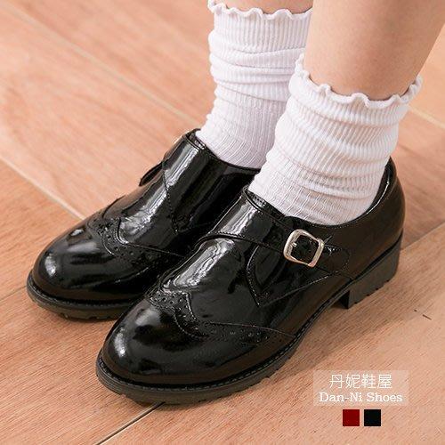 丹妮鞋屋 早秋新品 牛津鞋 孟克鞋 英式時髦亮眼漆皮孟克鞋 MIT台灣製造手工鞋 丹妮鞋屋