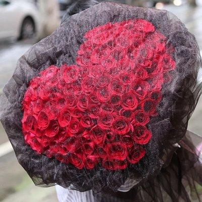 99枝紅玫瑰鮮花 可送貨