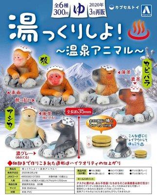 【神經玩具】現貨 AOSHIMA 青島 扭蛋 泡湯吧 動物們 一套6種 轉蛋 可愛