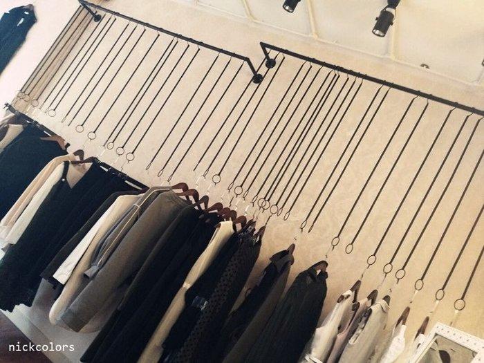 尼克卡樂斯 ~簡約U型展示吊掛衣桿 鐵製吊衣架 服飾店展示架 ㄇ型吊衣架 北歐極簡風吊衣桿 工業風壁掛吊衣架 開放式衣架
