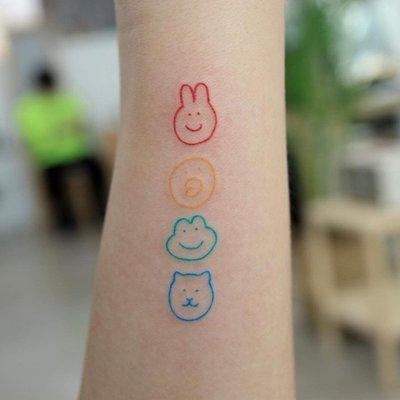 【萌古屋】】可愛兔鴨蛙熊 - 防水紋身貼紙刺青貼紙HC-3023