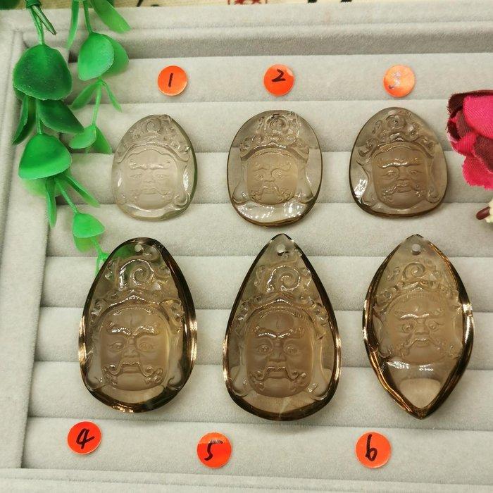 黃財神  高檔天然 茶水晶 項鍊墜 雕工精緻  ◎結緣價1880◎二姐的店W265編號4~6