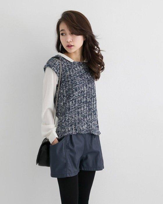 一元起標~轉賣~東京著衣假兩件毛衣襯衫