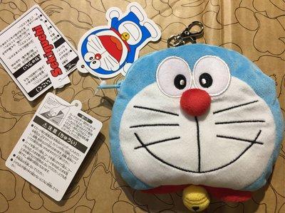 [變身館日本服飾]~DORAEMON~小叮噹~多啦a夢~絨布~立體~零錢包~證件包~信用卡~伸縮拉繩~日本購入~全新現品
