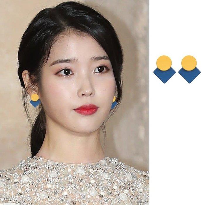 預購-韓劇同款德魯納酒店IU同款耳環李智恩耳飾耳釘設計感氣質莫蘭迪色李知恩