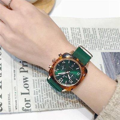 日和生活館 手錶女士新款時尚潮流防水韓版簡約YJ周冬雨同款網紅星空女錶S686
