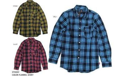 【 超搶手 】全新正品 2012 A/W 冬季 最新款 STUSSY COLOR FLANNEL 法蘭絨 格紋 襯衫兩色 S M L XL
