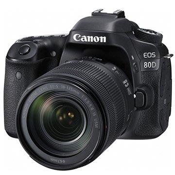 《晶準數位》Canon EOS 80D +18-135mm STM KIT(平輸貨)45個10字對焦.防水滴.防塵