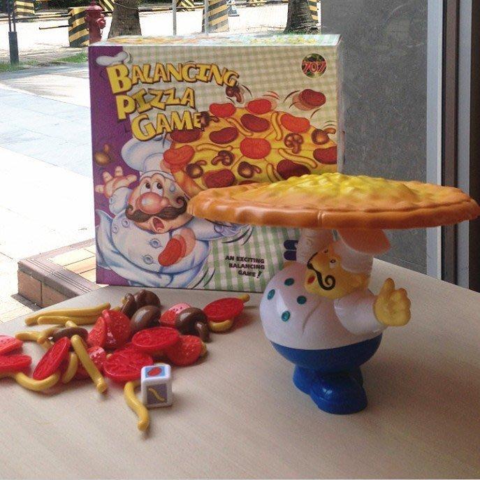 平衡披薩遊戲兒童過家家多人親子互動 訓練手眼協調教具 益智玩具_☆優購好SoGood☆